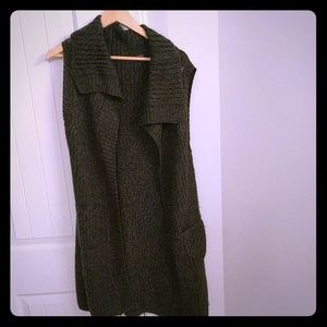 Prana Thalia Cargo Green Sweater Vest/Shrug